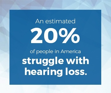 20% struggle with hearing loss