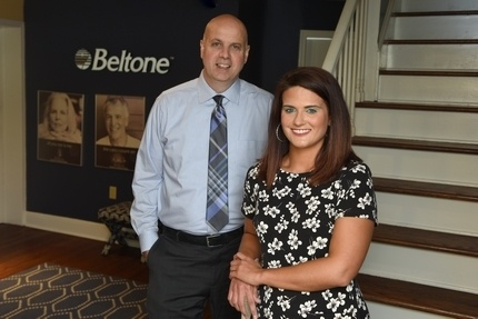 Ron and Taryn at Beltone headquarters
