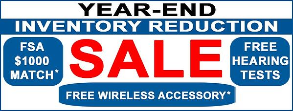 Year End Inventory Hearing Aid Sale