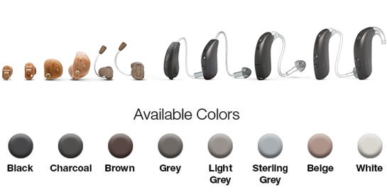 Beltone hearing aid available colors