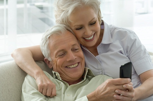 Couple with phone